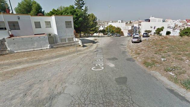 Calle Jorge Manrique de Jerez, donde se ha producido el presunto
