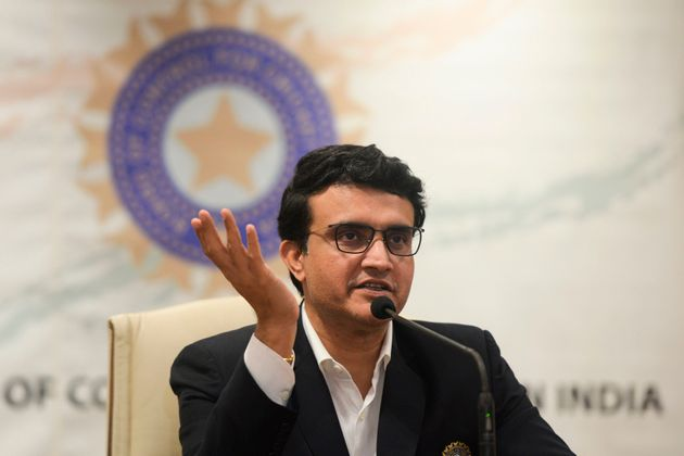 Sourav Ganguly, BCCI president, during a press conference at the BCCI headquarters on 23 October,