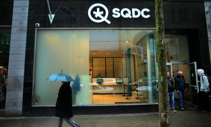 A downtown Montreal storefront of the Société Québécoise du Cannabis (SQDC), the regulatory agency for marijuana in Quebec, is photographed on May 14, 2019.