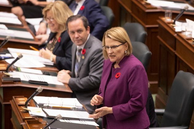 Solicitor General Sylvia Jones, seen here in Toronto on Oct. 29, 2019, says the new bill put forward...