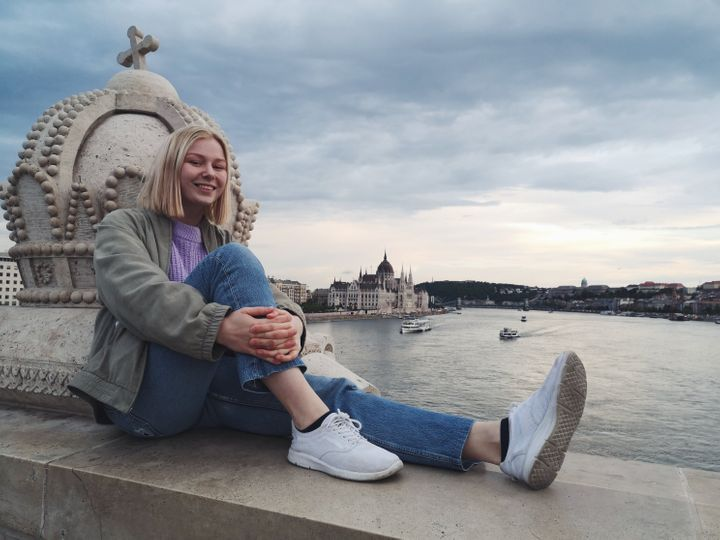 Rebecka Hoppe traveled from her home in Lund, Sweden, to Budapest in Hungary by train instead of taking a flight.