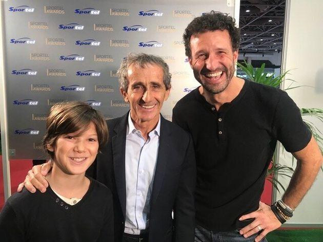 Gaspard Ehrgott avec Alain Prost, quadruple Champion du Monde de F1, lauréat du Prix de la Légende...