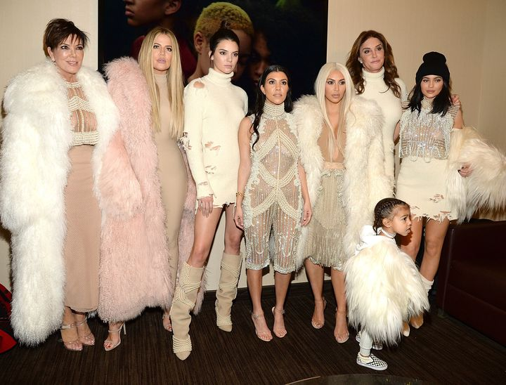 The KarJenner family attends Kanye West's Yeezy fashion show in 2016.