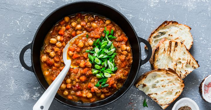 Chickpeas, seen here, are a versatile food.