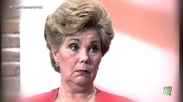 Ana Orantes, durante su entrevista en Canal Sur, poco después de la cual fue