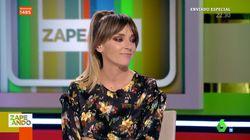 La cara de Anna Simón en 'Zapeando' tras lo que saca Dani Mateo de debajo de la mesa: