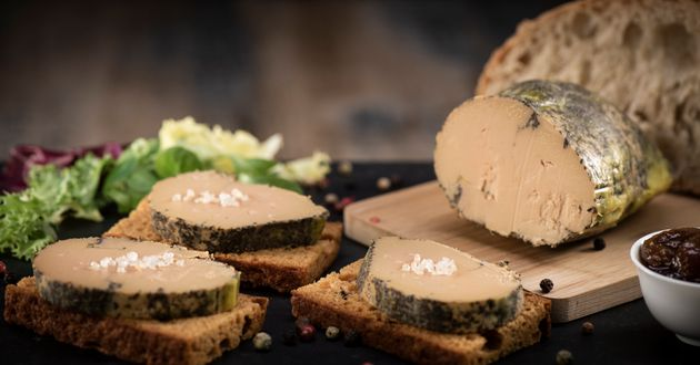 Foie gras and gingerbread cake, Bordeaux,