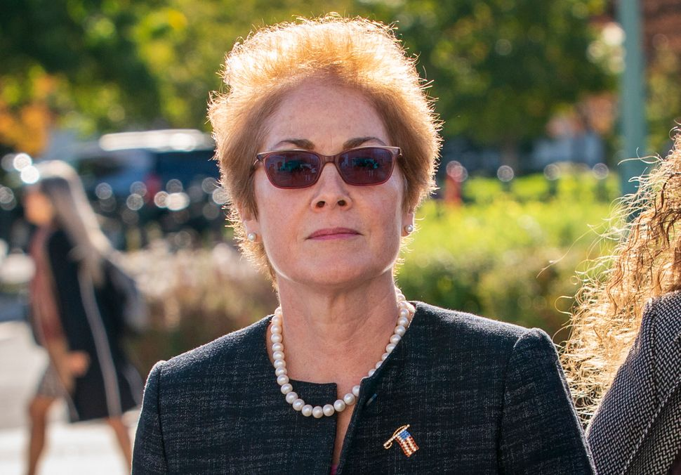 Marie Yovanovitch was ousted as the U.S. ambassador to Ukraine in May, reportedly for hindering efforts to investigated Trump