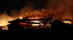 오키나와 슈리성에 큰 불이 나 주요 건물이
