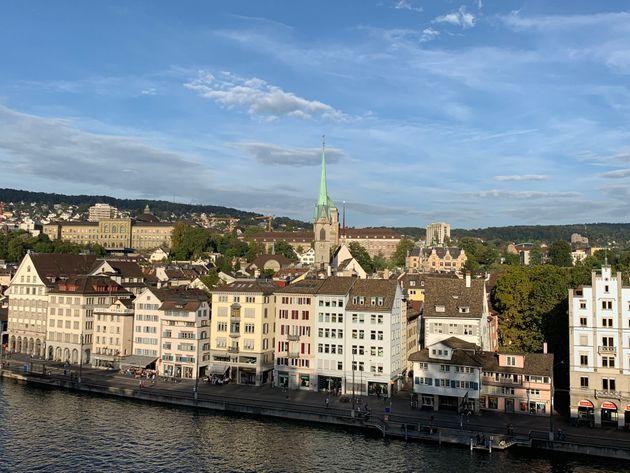 スイス・チューリッヒの街並み
