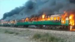 65 Killed In Fire On Pakistan Train After Gas Canister