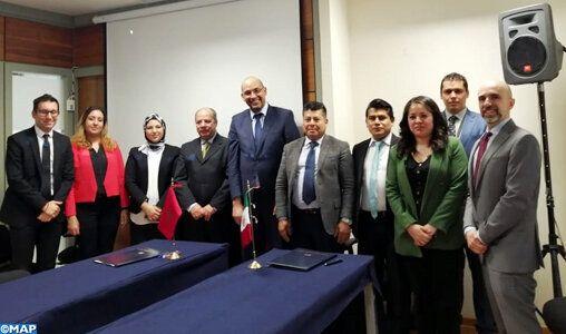 Signature du mémorandum entre le Maroc et le Mexique, mardi 29 octobre à Mexico.