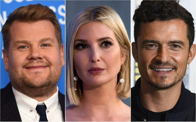 James Corden, Ivanka Trump and Orlando Bloom were involved in an unlikely exchange at a