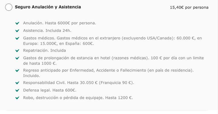 Página web de Iberia.