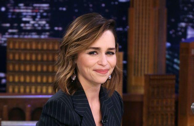 Emilia Clarke, en el programa de Jimmy Fallon el 30 de octubre de