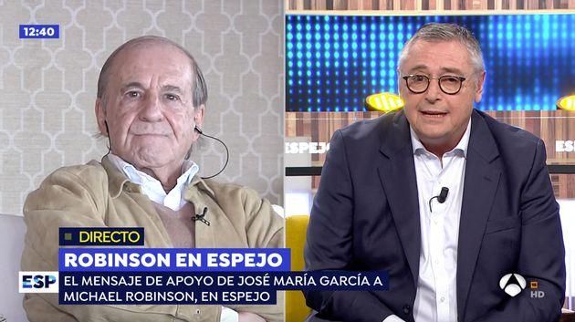 Michael Robinson y José María García en 'Espejo