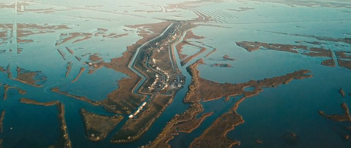 Isle de Jean Charles is a narrow island located in south Terrebonne Parish, Louisiana.