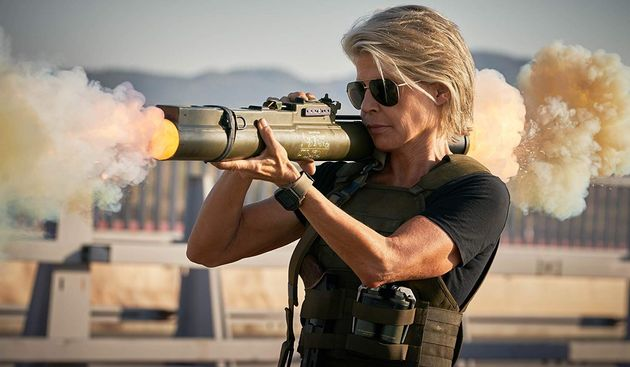 Sarah Connor (Linda Hamilton) mais badass do que