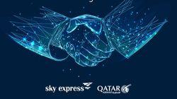 """Νέα συμφωνία """"κοινού κωδικού"""" Qatar Airways και Sky"""