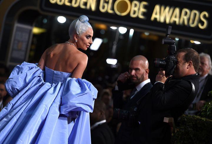 Η Lady Gaga στα βραβεία Golden Globes 2019 στην Καλιφόρνια