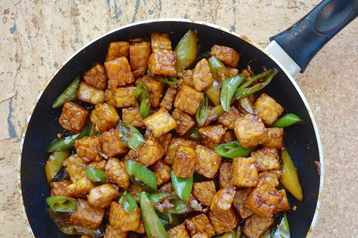 Tempeh, seen here, is known for being high in protein.