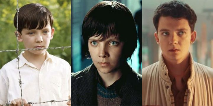 Asa Butterfield en 'El niño con el pijama de rayas', 'La invención de Hugo' y 'Sex Education'.
