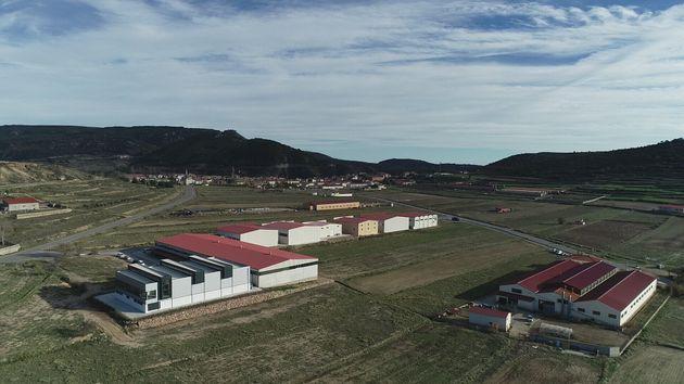 Vista aérea de las instalaciones de Turomás en Rubielos de Mora