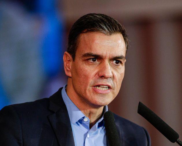 Le chef du gouvernement espagnol Pedro Sanchez ici à Barcelone le 30 octobre
