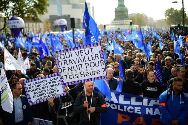 La marche de la colère des policiers, le 2 octobre