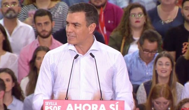Pedro Sánchez, durante su