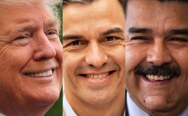 Donald Trump, Pedro Sánchez y Nicolás