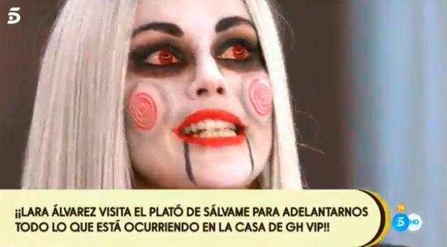 Lara Álvarez disfrazada en