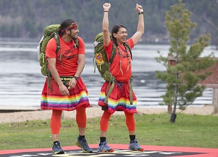 """Anthony Johnson and James Makokis on """"The Amazing Race Canada."""""""