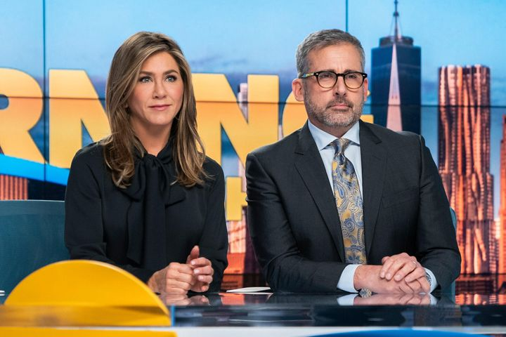 "Jennifer Aniston and Steve Carell in ""The Morning Show."""