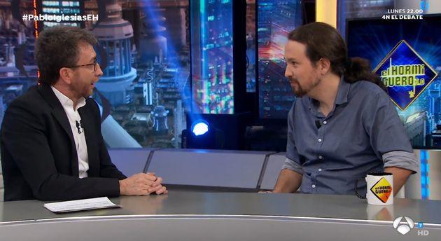 Pablo Iglesias y Pablo Motos en 'El