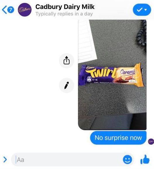 Cadbury Caramilk Twirls Are
