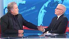 Watch Anderson Cooper Nennt, 'Stier' Auf Trump Verteidigung Zu Steve Bannon ' s Gesicht