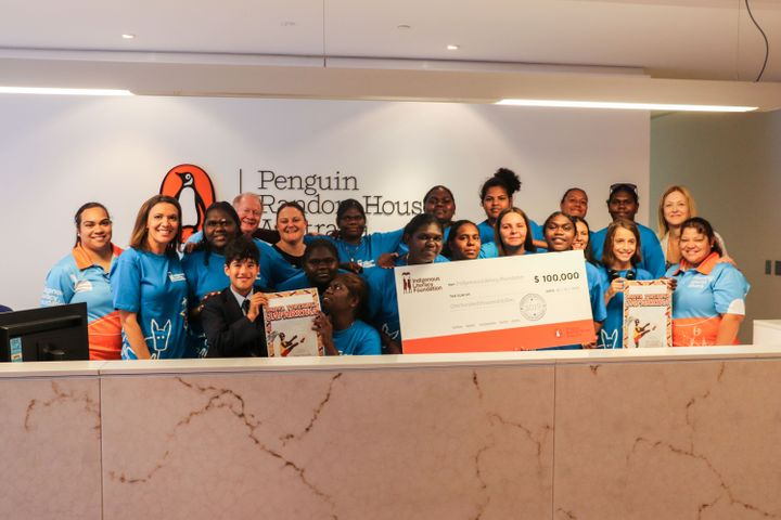 A group of Tiwi College students are part of the Indigenous Literacy Fund's writing program supported by Penguin Random House.