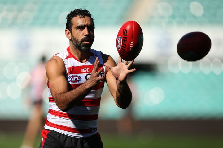 Adam Goodes has been vocal about the racism he experienced while playing AFL for the Sydney Swans before his retirement in 2015.