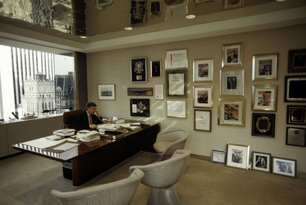 NEW YORK - AUGUST 1987: Donald Trump, real estate mogul, entrepreneur, and billionare spends most of...
