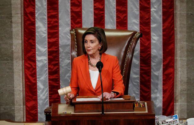 La presidenta de la Cámara de Representantes, Nancy Pelosi, el pasado