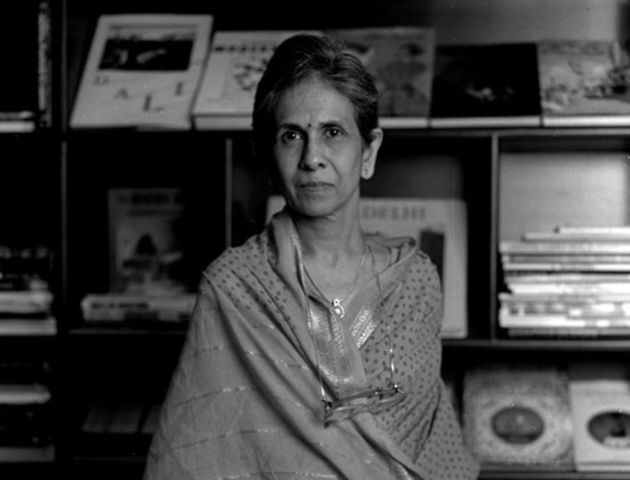 Writer Shashi Deshpande in a file