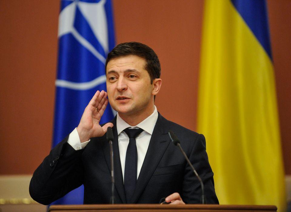 Le président ukrainien VolodymyrZelensky (ici lors d'une conférence de presse de...