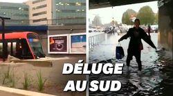 À Nice, les images des rues inondées et du tramway noyé par les