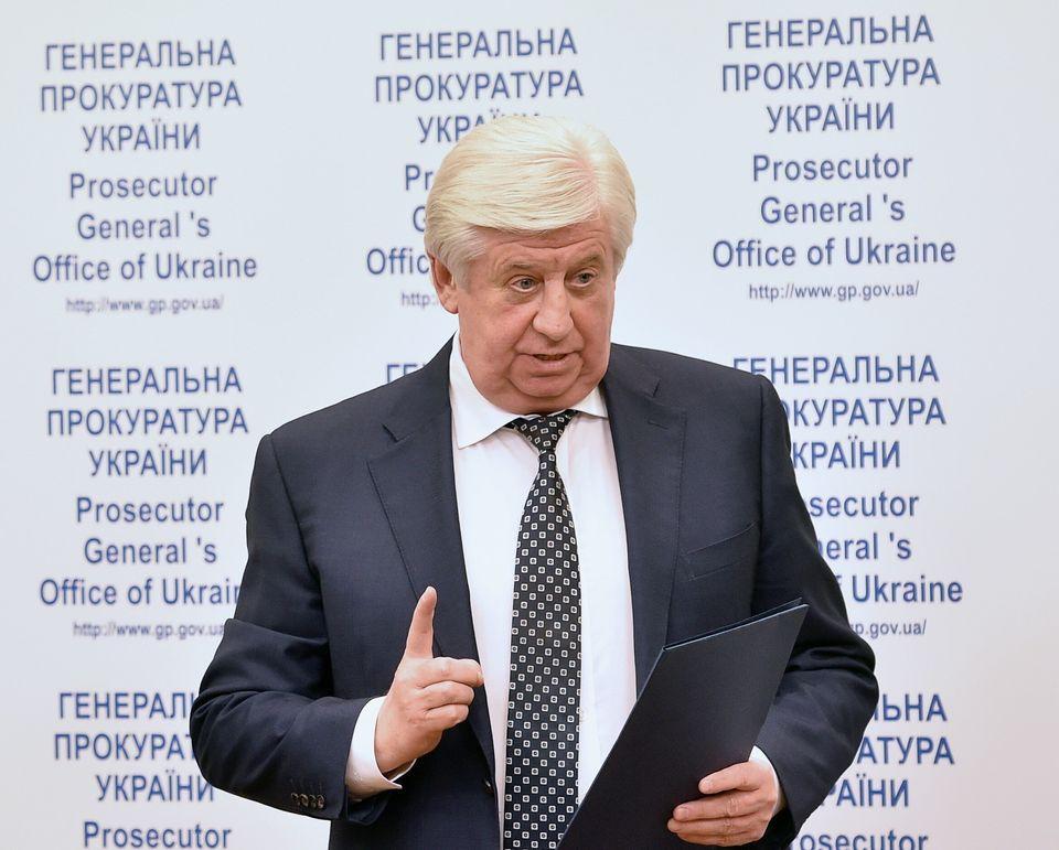 Viktor Shokin a été très critiqué suite à son refus de poursuivre...