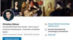 El aviso de Christian Gálvez sobre su perfil en LinkedIn: dice que no lo va a