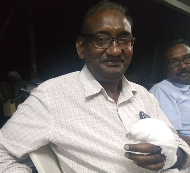 P Ranga Rao, a state leader with CPI-ML (New Democracy), was injured during police action on striking...