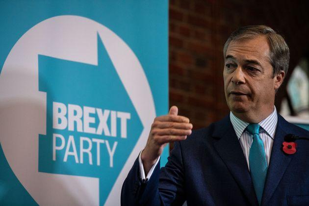 El líder del Partido del Brexit, Nigel Farage, en una imagen de