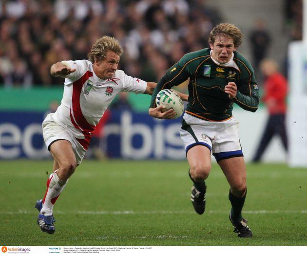 La finale Angleterre-Afrique du Sud lors de la Coupe du monde de rugby 2007 organisée en