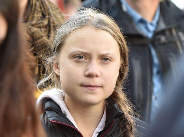 La militante écologiste Greta Thunberg ici à Vancouver le 25 octobre